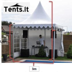 3x3m Pagoda ismatavimai Tents.lt