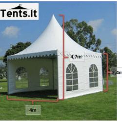 4x4m Pagoda ismatavimai Tents.lt